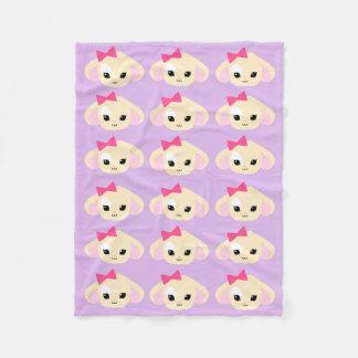 Cobertura do velo da lavanda de Kawaii Usagi-chan Cobertor De Lã