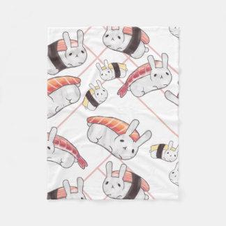 Cobertura do velo do bebê do coelho do sushi cobertor de lã