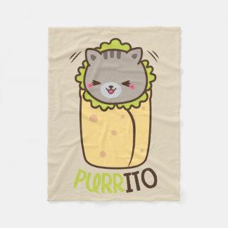 Cobertura do velo do gato do Burrito de Purrito Cobertor De Lã