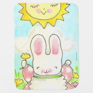 Cobertura ensolarada do bebê do coelho manta para bebe