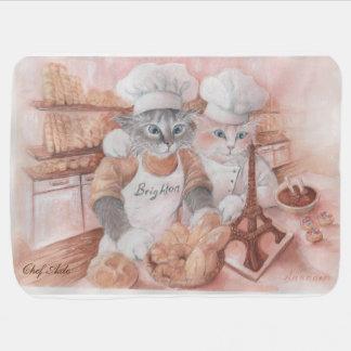 Cobertura francesa do bebê do eixo do cozinheiro manta de bebe