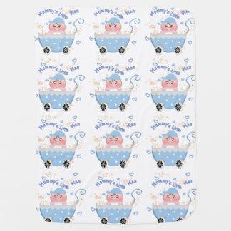 Cobertura pequena do carrinho de bebê do homem da cobertorzinhos para bebe