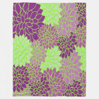 """""""Cobertura roxa do velo da flor do verde limão """" Cobertor De Lã"""