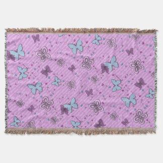 Cobertura roxa e azul decorativa do lance da coberta