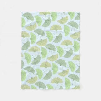 Cobertura verde de vagueamento do velo do Gingko Cobertor De Lã