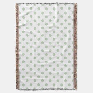 cobertura verde e branca do lance das bolinhas throw blanket