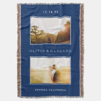 Cobertura Wedding do lance da foto da lembrança do Throw Blanket