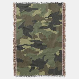 Coberturas tecidas militares verdes Khaki do lance Coberta