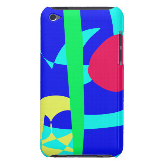 Cobra azul e fruta vermelha capas iPod touch Case-Mate