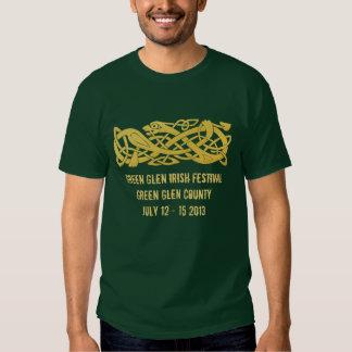 Cobra celta do ouro no T verde escuro do festival Tshirts