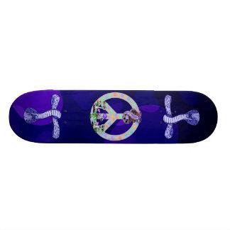 Cobra do símbolo de paz skate