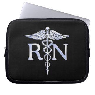 Cobras do Caduceus do RN da enfermeira diplomada Capa Para Notebook