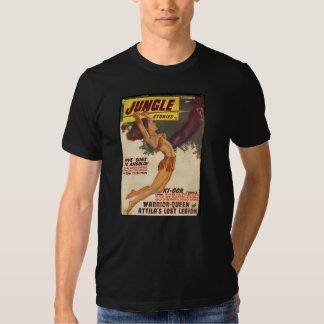 Cobrir 1947 da polpa das histórias da selva - vint t-shirts