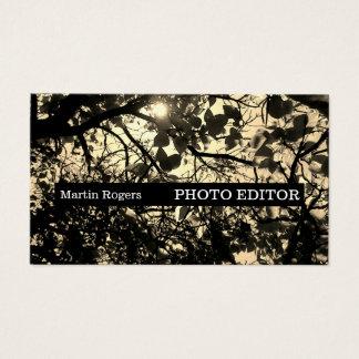 Cobrir à moda retro da natureza da imagem da foto cartão de visitas
