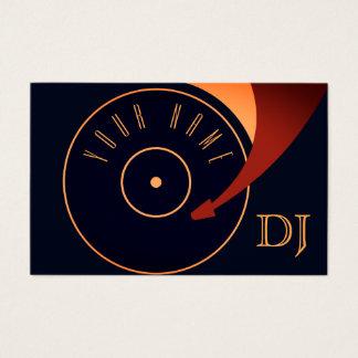 Cobrir ajustado da ilustração do vinil do DJ Cartão De Visitas
