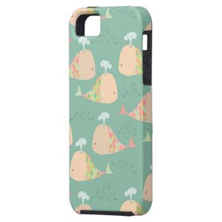 Cobrir bonito da case mate de Iphone 5 das baleias Capa Tough Para iPhone 5