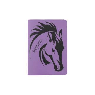 Cobrir bonito do passaporte do design do cavalo capa para passaporte