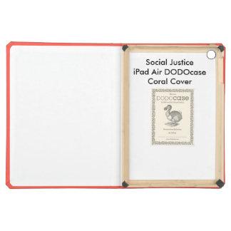 Cobrir coral de DODOcase do ar do iPad de justiça