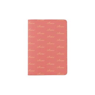 cobrir coral do passaporte do viagem com o teste capa para passaporte