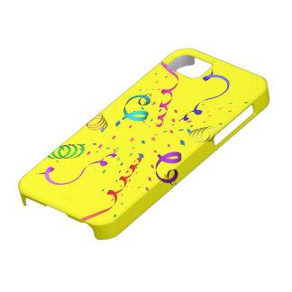Cobrir da explosão iPhone5 dos confetes Capa Barely There Para iPhone 5