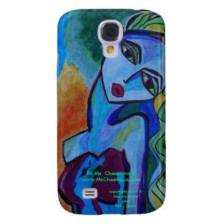 Cobrir da galáxia S4 da Senhora Cheevious Capa Samsung Galaxy S4