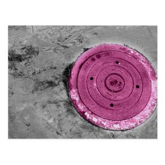 Cobrir de câmara de visita cor-de-rosa cartão postal