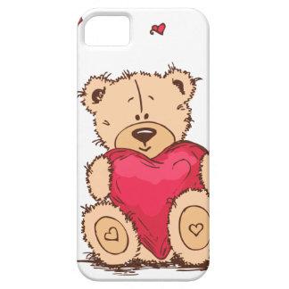 Cobrir do ursinho de Iphone/Ipad Capa Barely There Para iPhone 5