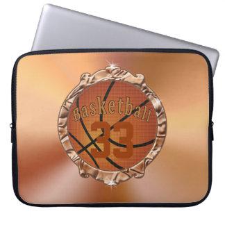 Cobrir Monogrammed do laptop do BASQUETEBOL para Capas De Computadores Notebooks