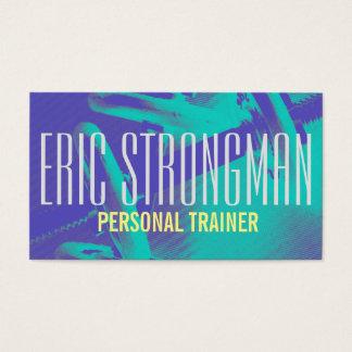 Cobrir pessoal do estilo do gym do instrutor da cartão de visitas