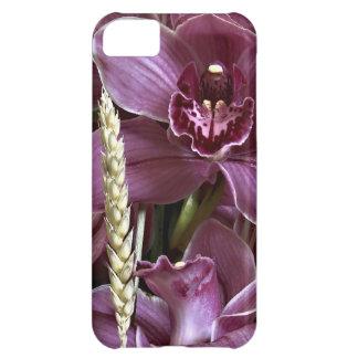 Cobrir roxo das orquídeas iPhone5 Capa Para iPhone 5C