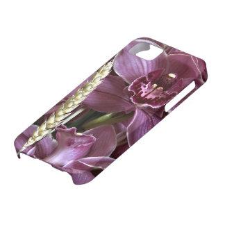 Cobrir roxo das orquídeas iPhone5 Capas Para iPhone 5