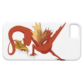 Cobrir vermelho real do iPhone 5/5s do dragão Capas Para iPhone 5