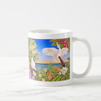 Cockatoos Sulfer-com crista Caneca De Café