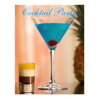 Cocktail de Curaçau Panfleto Personalizados