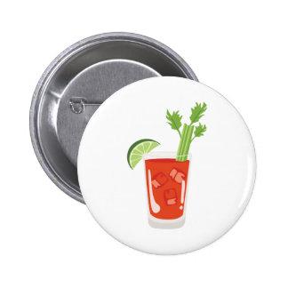 Cocktail do Bloody Mary Bóton Redondo 5.08cm
