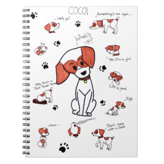 Cocos o Jack Russell Terrier Caderno Espiral