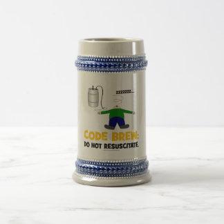 Codifique a fermentação caneca de cerveja