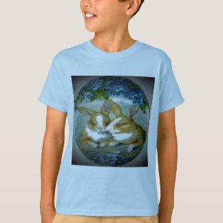 Coelhinhos da Páscoa do vintage Textured T-shirts