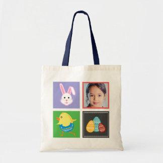 Coelhinhos da Páscoa e foto bonitos coloridos do Bolsa Tote