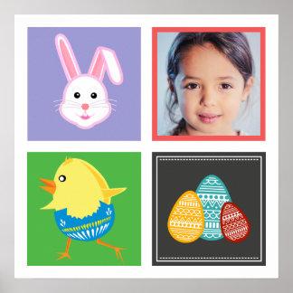 Coelhinhos da Páscoa e foto bonitos coloridos do Pôster