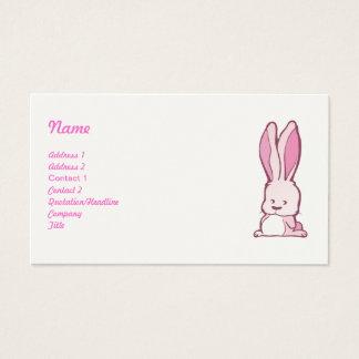 Coelho bonito cartão de visitas