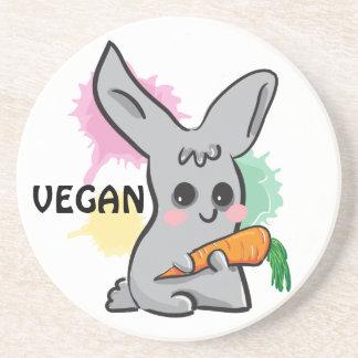 Coelho bonito cinzento do Vegan com porta copos da