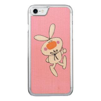 Coelho branco do coelho dos desenhos animados capa para iPhone 7 carved