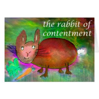 Coelho da satisfacção [cartão] cartão comemorativo