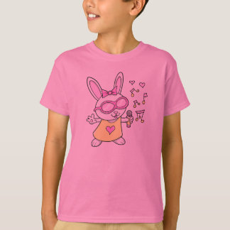 Coelho de coelho bonito super do canto t-shirts