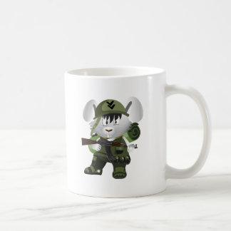 Coelho do exército caneca de café