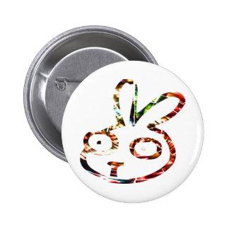 Coelho engraçado botons