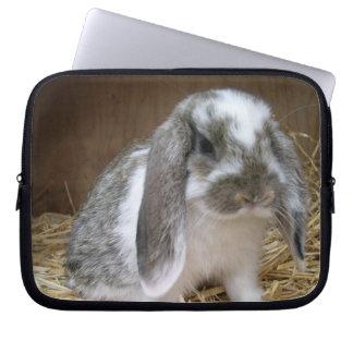 Coelho flexível das orelhas bolsa e capa de notebook