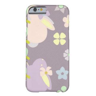 coelhos roxos com caso do iPhone 6/6s da fita Capa Barely There Para iPhone 6