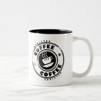 Coffee Addicted Caneca Dois Tons